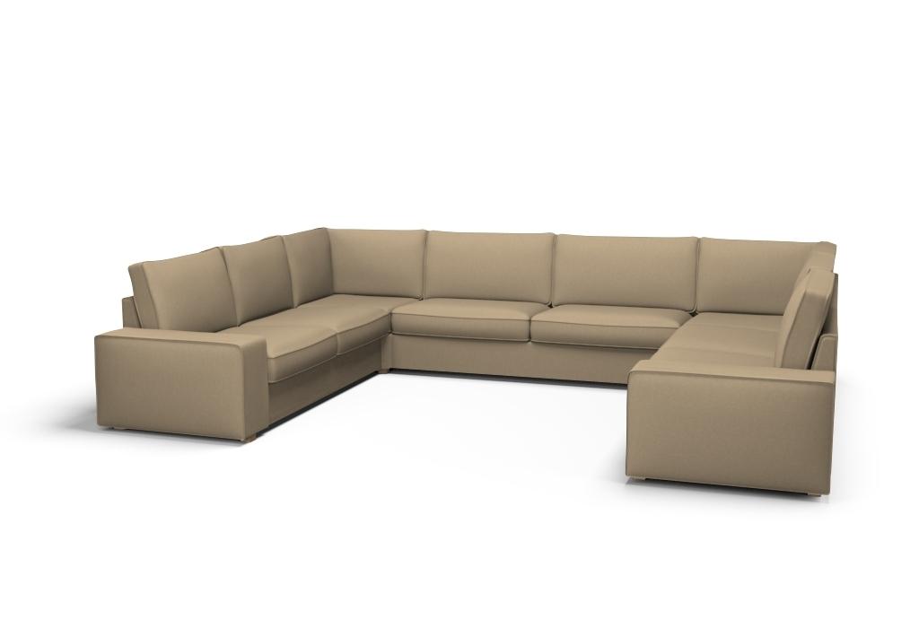 Bezug für KIVIK Sofa U-Form 9-Sitzer - Palermo Sahara Sand ...